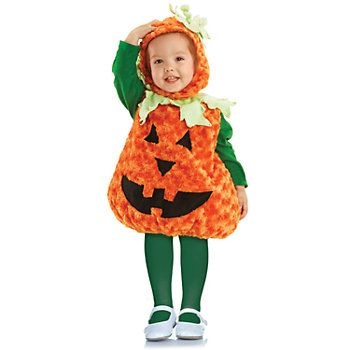 pumpkin toddler costume includes a plush swirl fur body and hood to get your tot ready for their first halloween around the