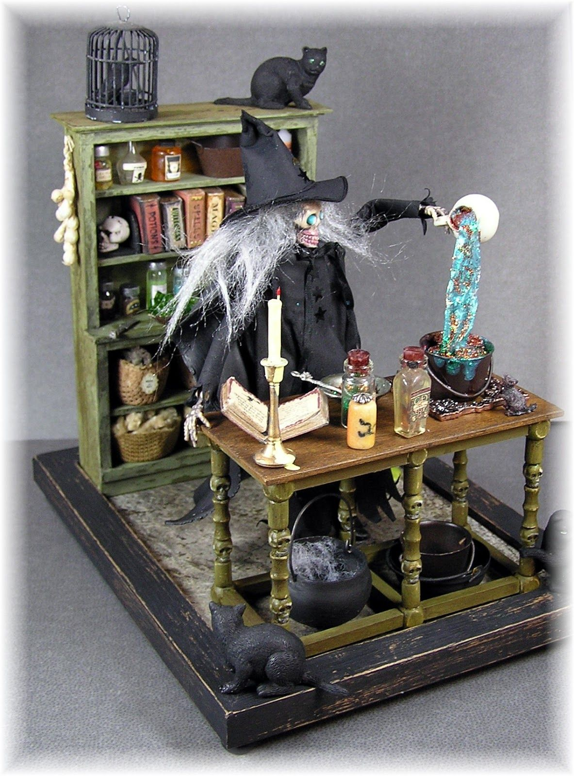 Halloween Miniaturen.Dyi Dollhouse Miniatures Halloween Miniature Witch