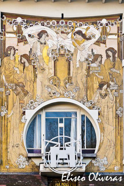 Mural en la Casa Cauchie · Bruselas