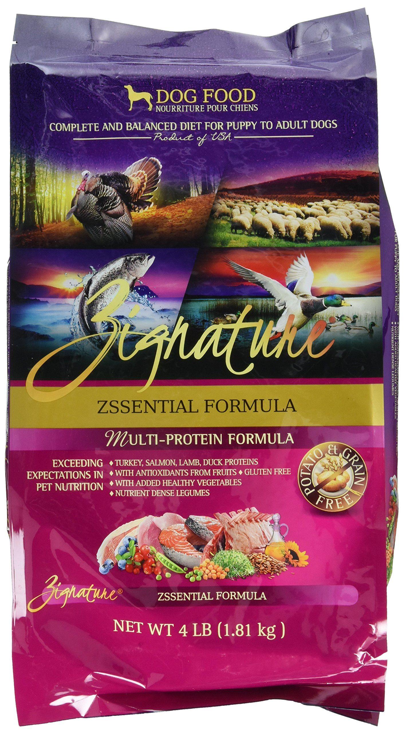 Zignature Zssential Formula Dog Food 4 Lb Click On The Image