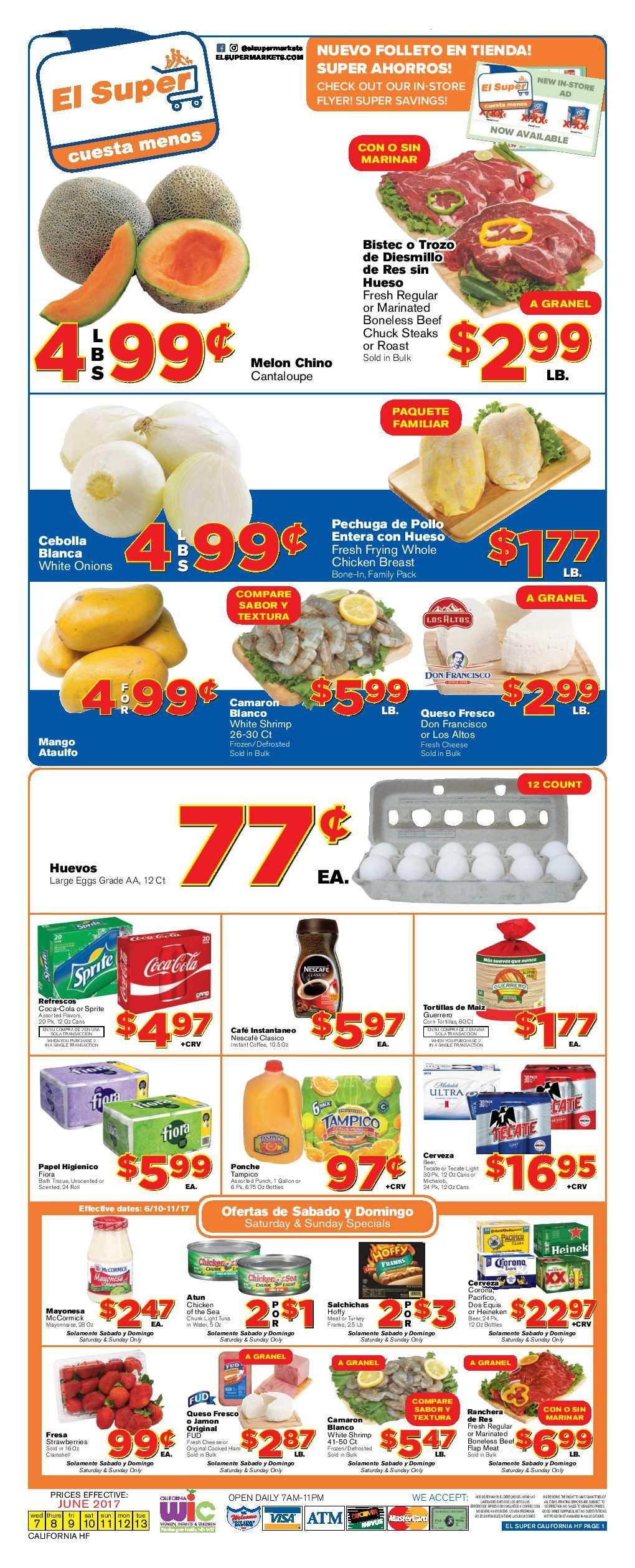 El super weekly ad june 7 13 2017 el super grocery