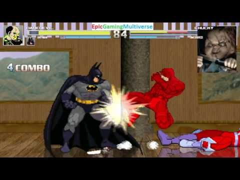 Batman And Daredevil VS Chucky The Killer Doll Omega Red In A MUGEN Match