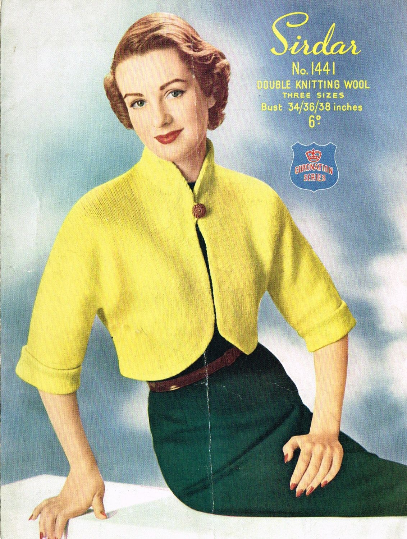 Ladies vintage retro Bolero cardigan knitting pattern for modern ...