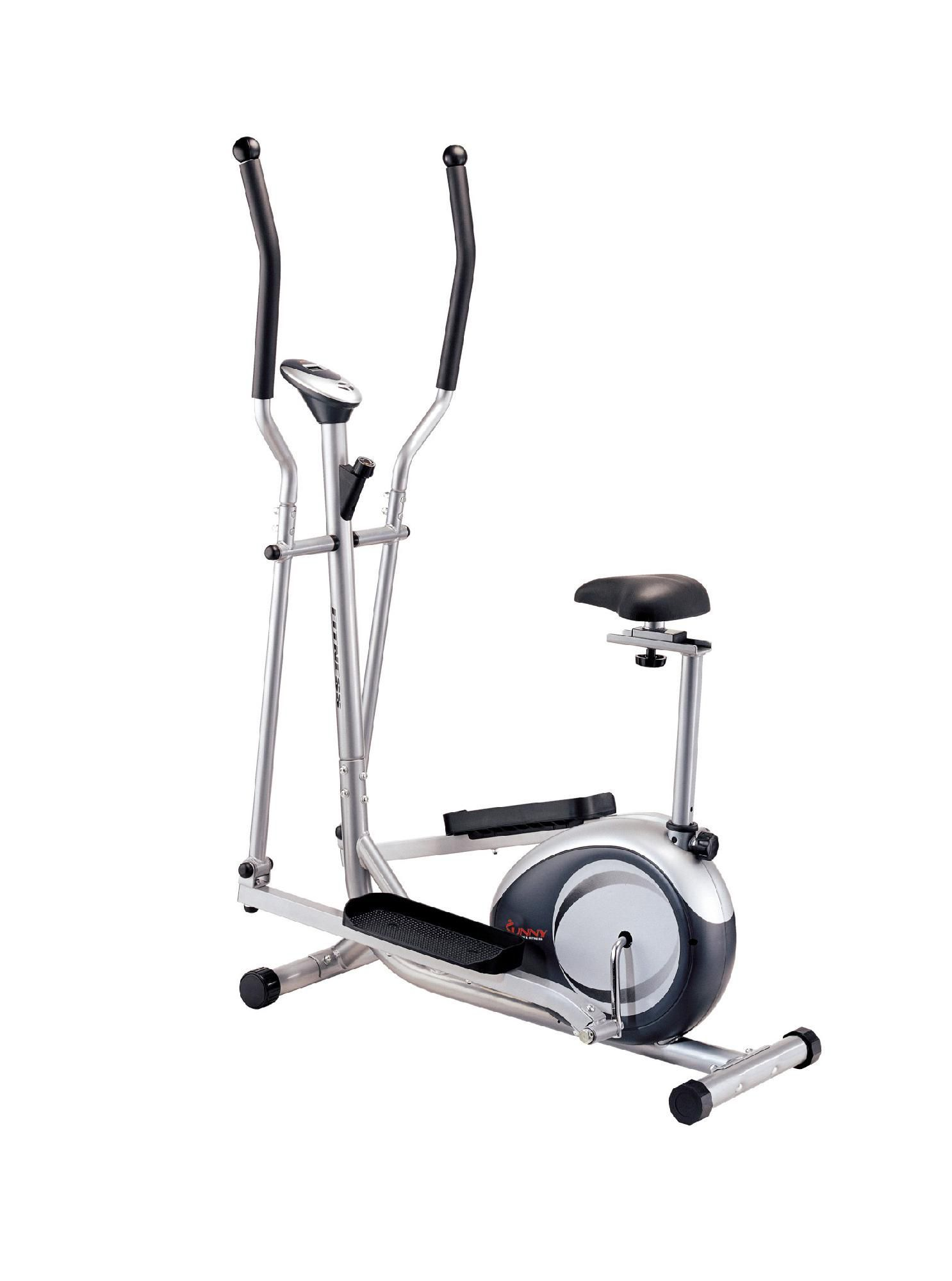 Sunny health fitness 2 in 1 elliptical trainer and up