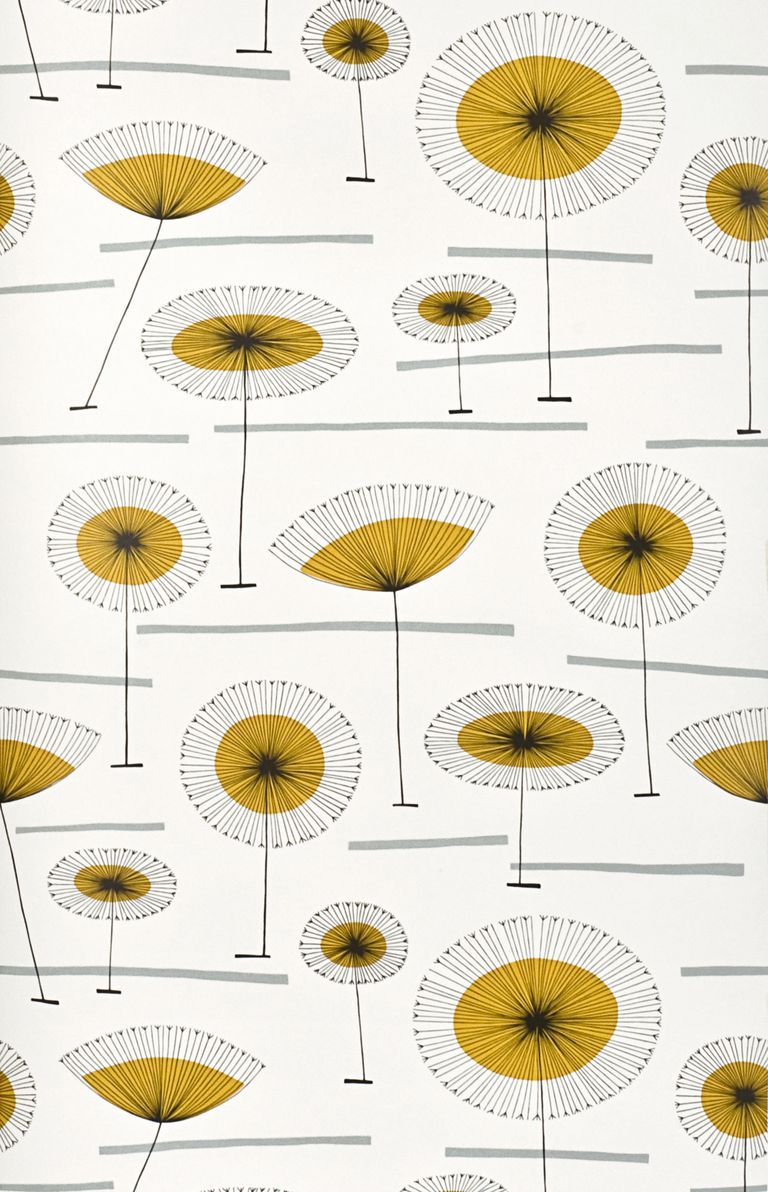 These 21 MidCentury Modern Wallpaper Ideas Will Transform Your Walls is part of Scandinavian Home Accessories Mid Century - These playful patterns make the case for this timeless trend