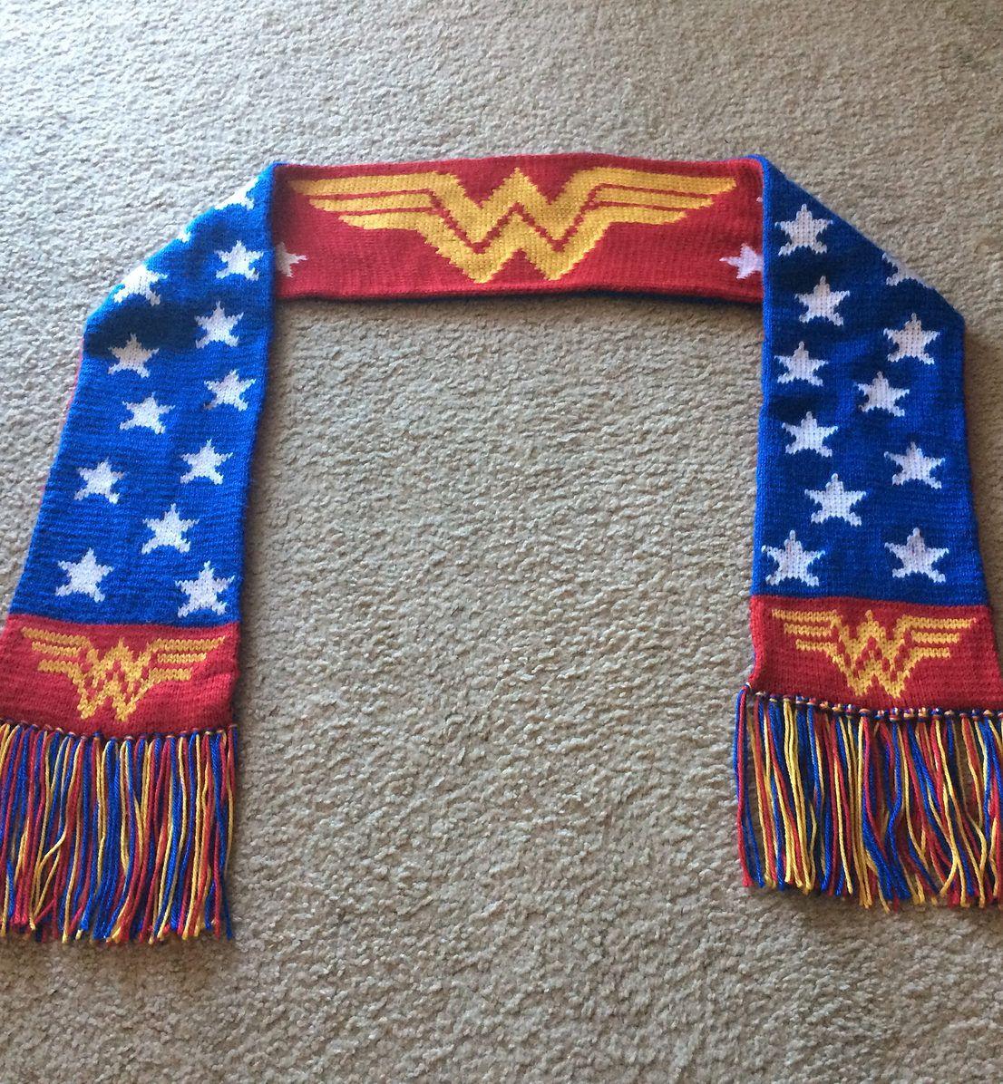 Free Knitting Pattern For Wonder Woman Scarf Knitting Knitting