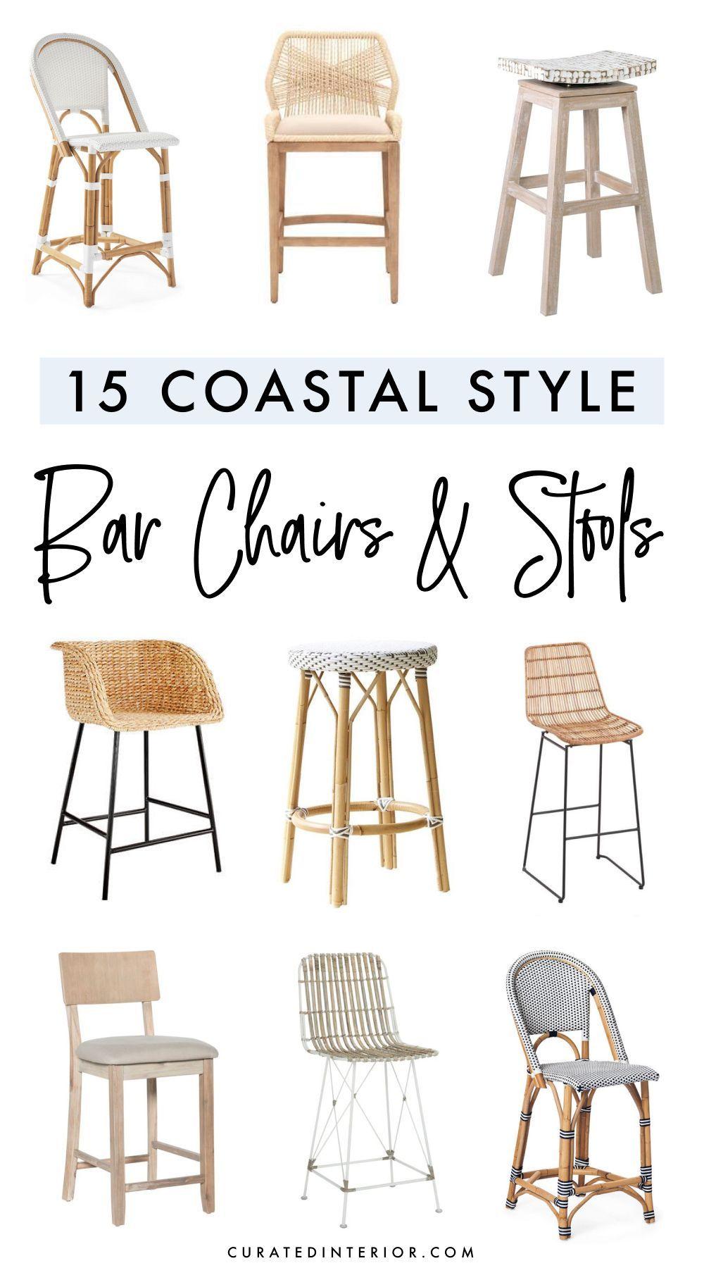 15 Coastal Counter Chairs Bar Stools For Beach Homes Counter Chairs Bar Chairs Bar Stools Kitchen Island