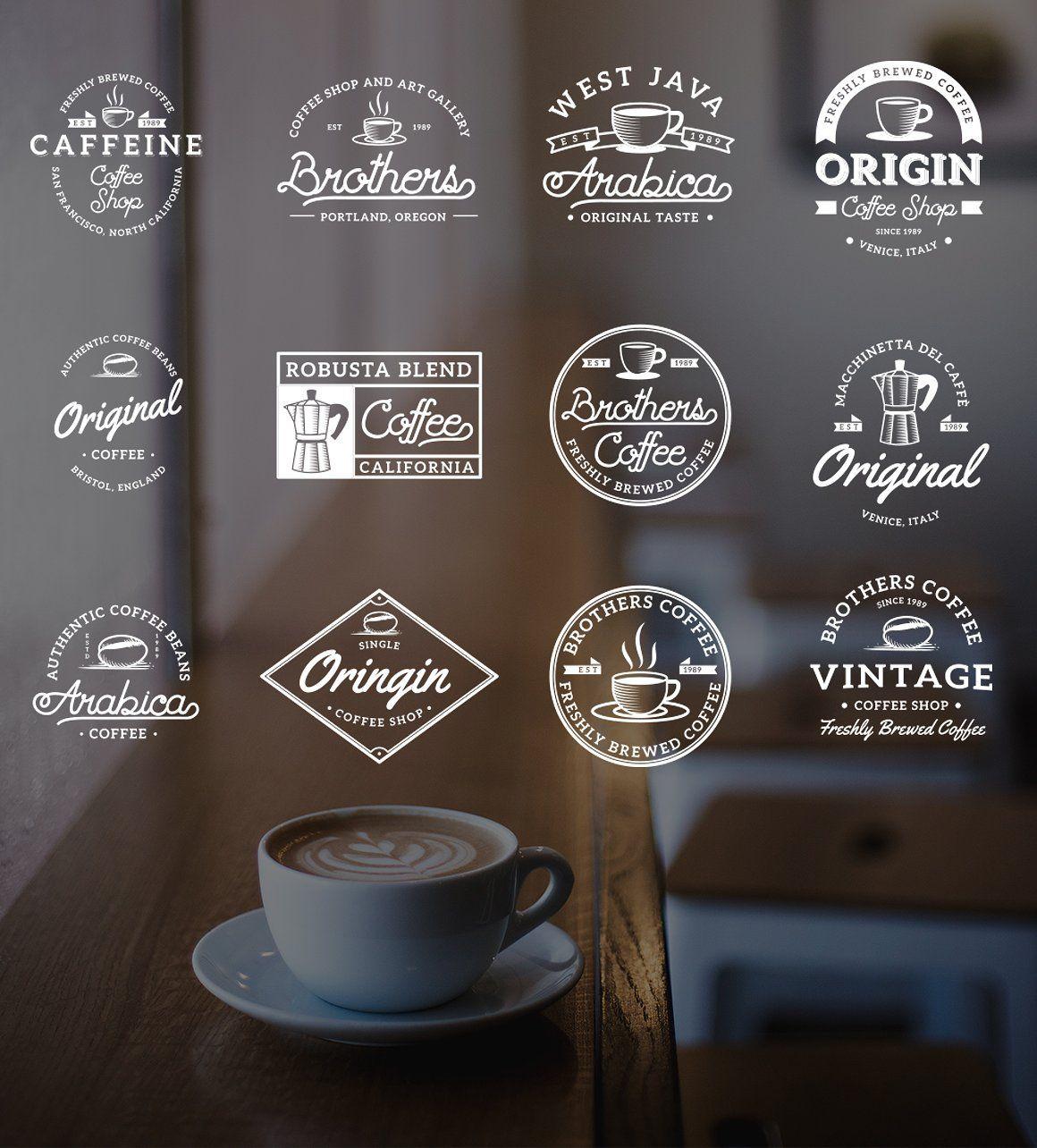 Vintage Coffee Logo Badges Vol 3 Dengan Gambar Logo Branding
