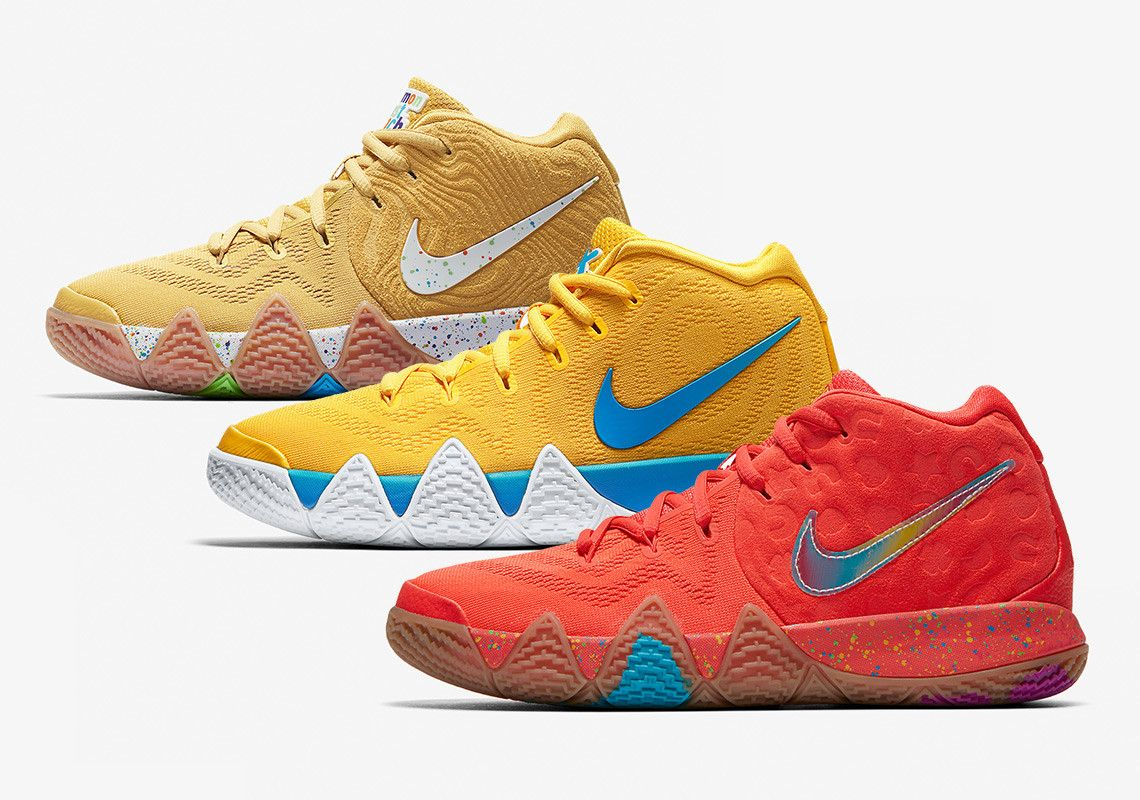 On August 11th Kyrie Irving and Nike brought out the inner kid in all of us  by releasing a three-piece set of Kyrie 4 selections dressed up in the  color ... 059800a46