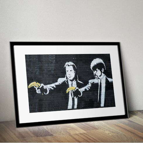 Pulp Fiction\' by Banksy Framed Graphic Art   Linwood - Unit 1 ...