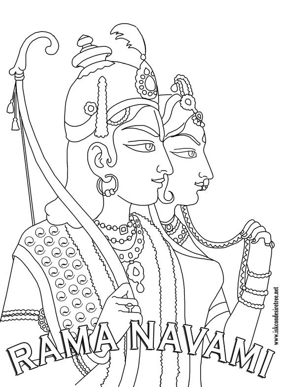Ram Navami Coloring Pages | coloring pages | Pinterest | Hare ...