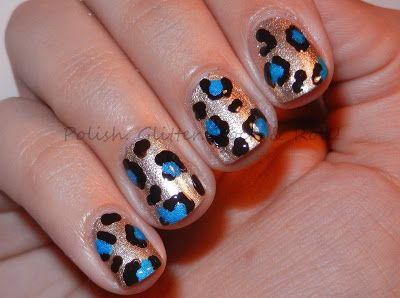 Polish. Glitter. Rock & Roll!: Leopard Mani for International Nail Art Day!
