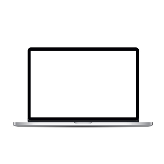 Laptop Template With Blank Screen Computer Icon Photo Editing Picture Logo