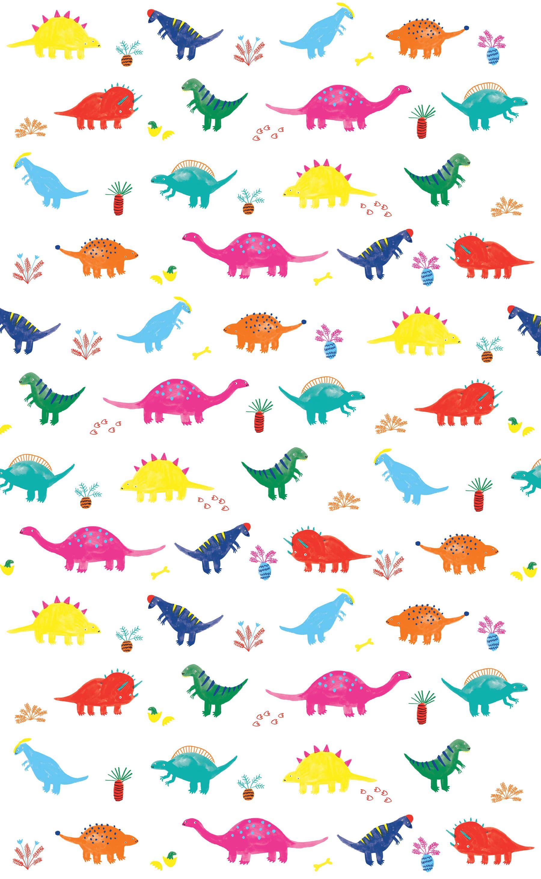 NEW! Dinosaur pattern Lorna Scobie Illustration (With