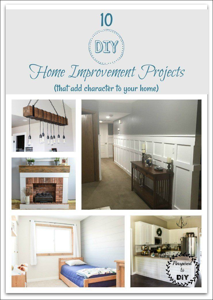 10 Diy Home Improvement Project Ideas Pinspired To Diy Diy Home Improvement Home Diy Home Improvement Projects