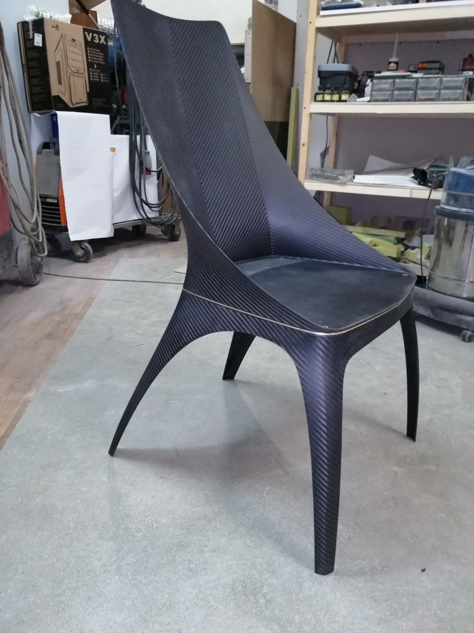 Carbon Chair Modeloni Epoxy Wood Table Chair Furniture