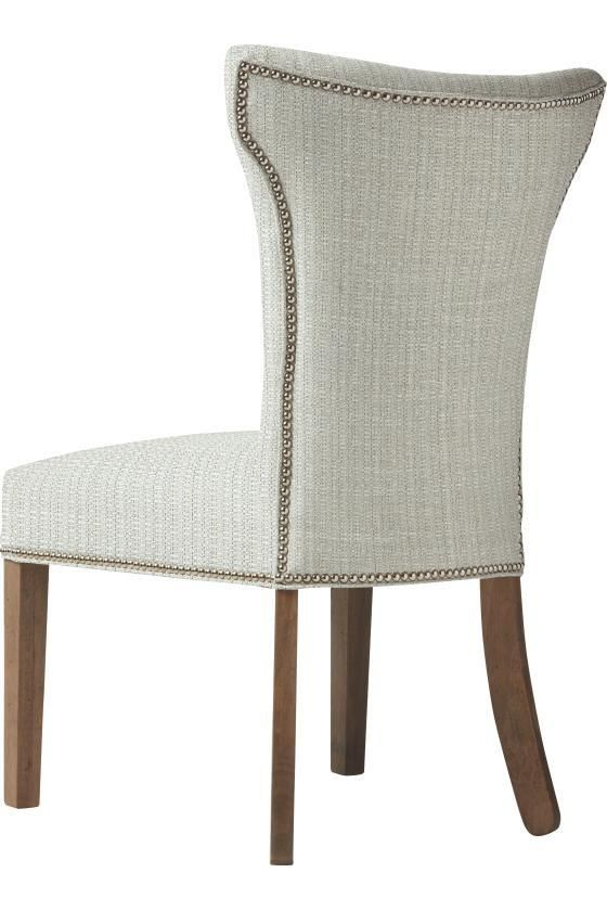Custom Contemporary Curved-Back Parsons Chair