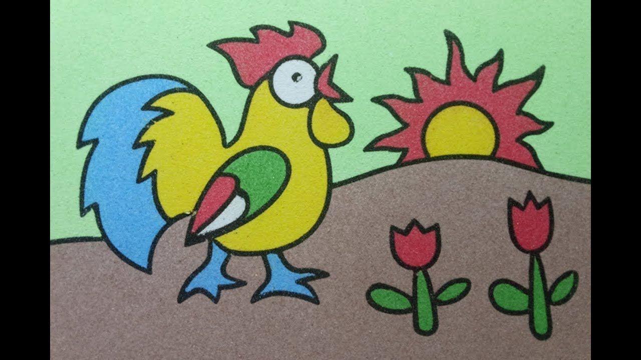 Sand Painting Art Mewarnai Gambar Ayam