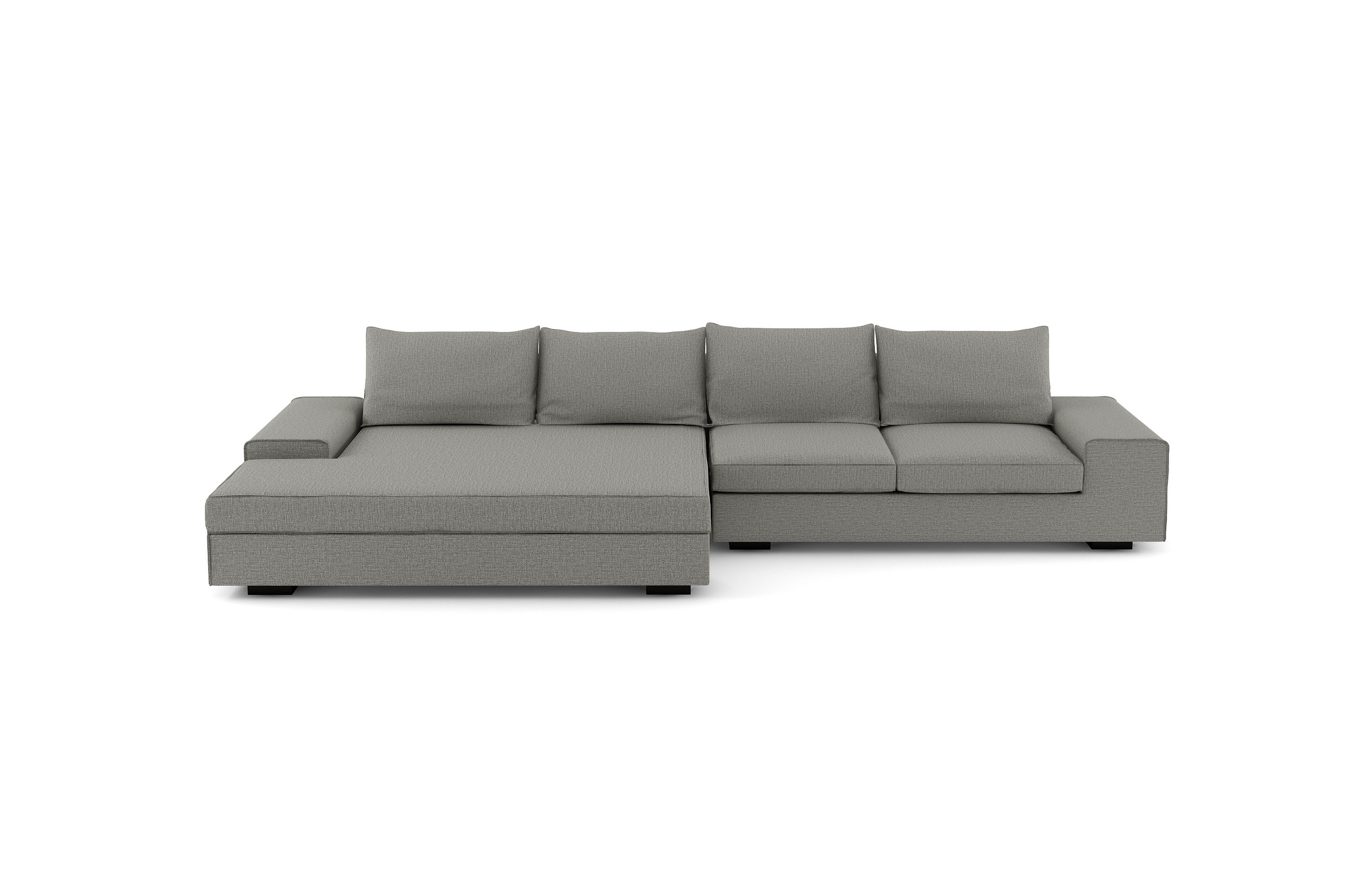 Wide Chaise Sectional Sofa
