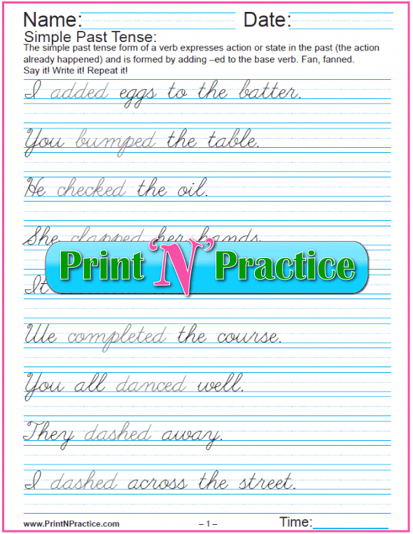 Our Printable Handwriting Worksheets Teach Kids Beautiful Form From