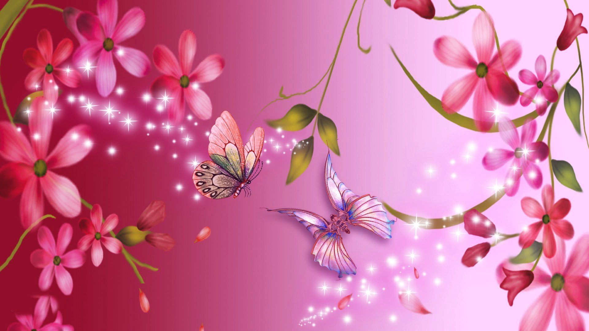 Pink Flower Wallpapers 1080p For Desktop Wallpaper