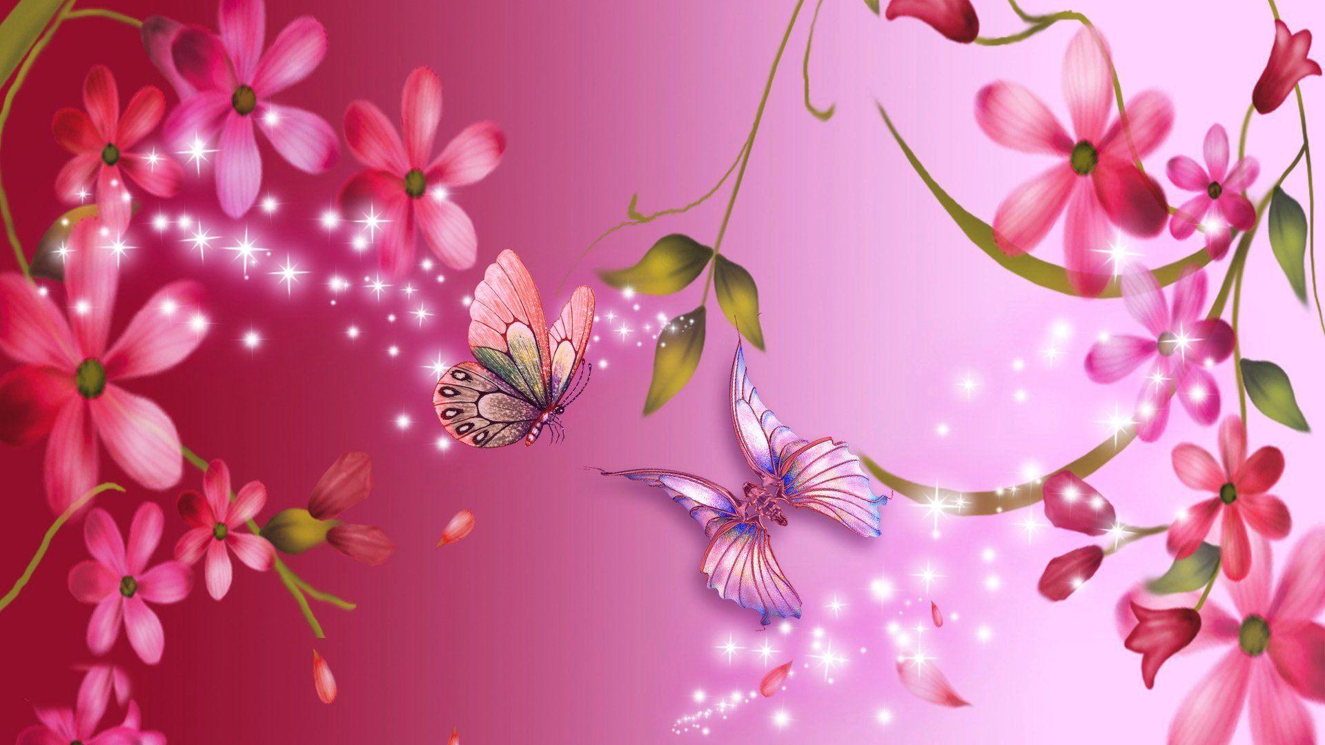 Pink Flower Wallpapers 1080p For Desktop Wallpaper 1920 x