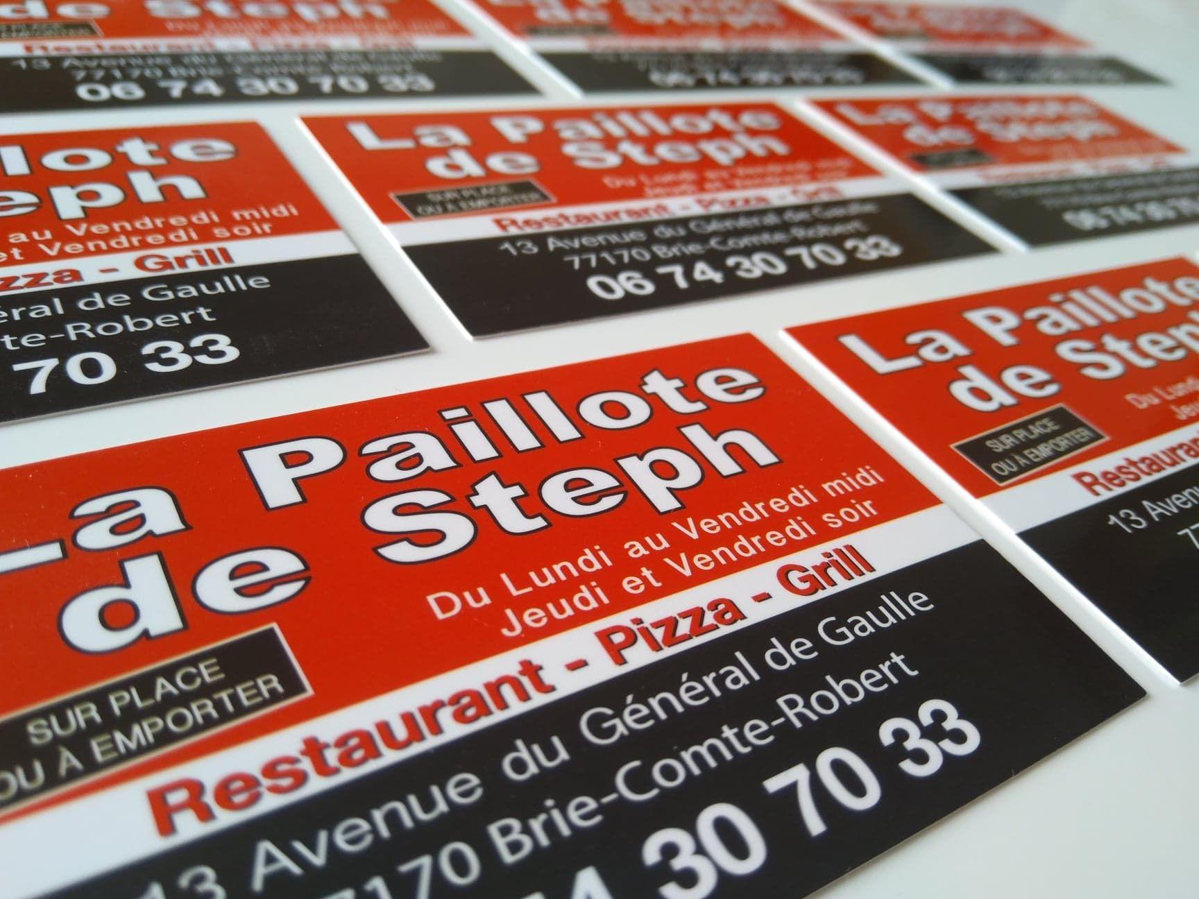 Carte De Visite Pour Notre Client La Paillote Steph Restaurant Pizza