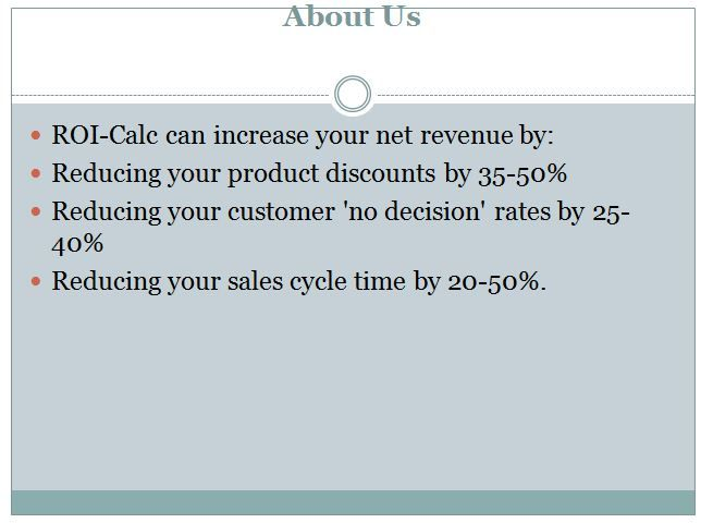 Contact us and learn how we can accelerate your sales revenue - roi spreadsheet