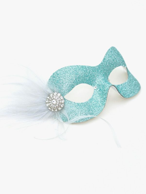 Pastel Ice Blue Silver Pretty Sparkly Masquerade Eye Mask a ...