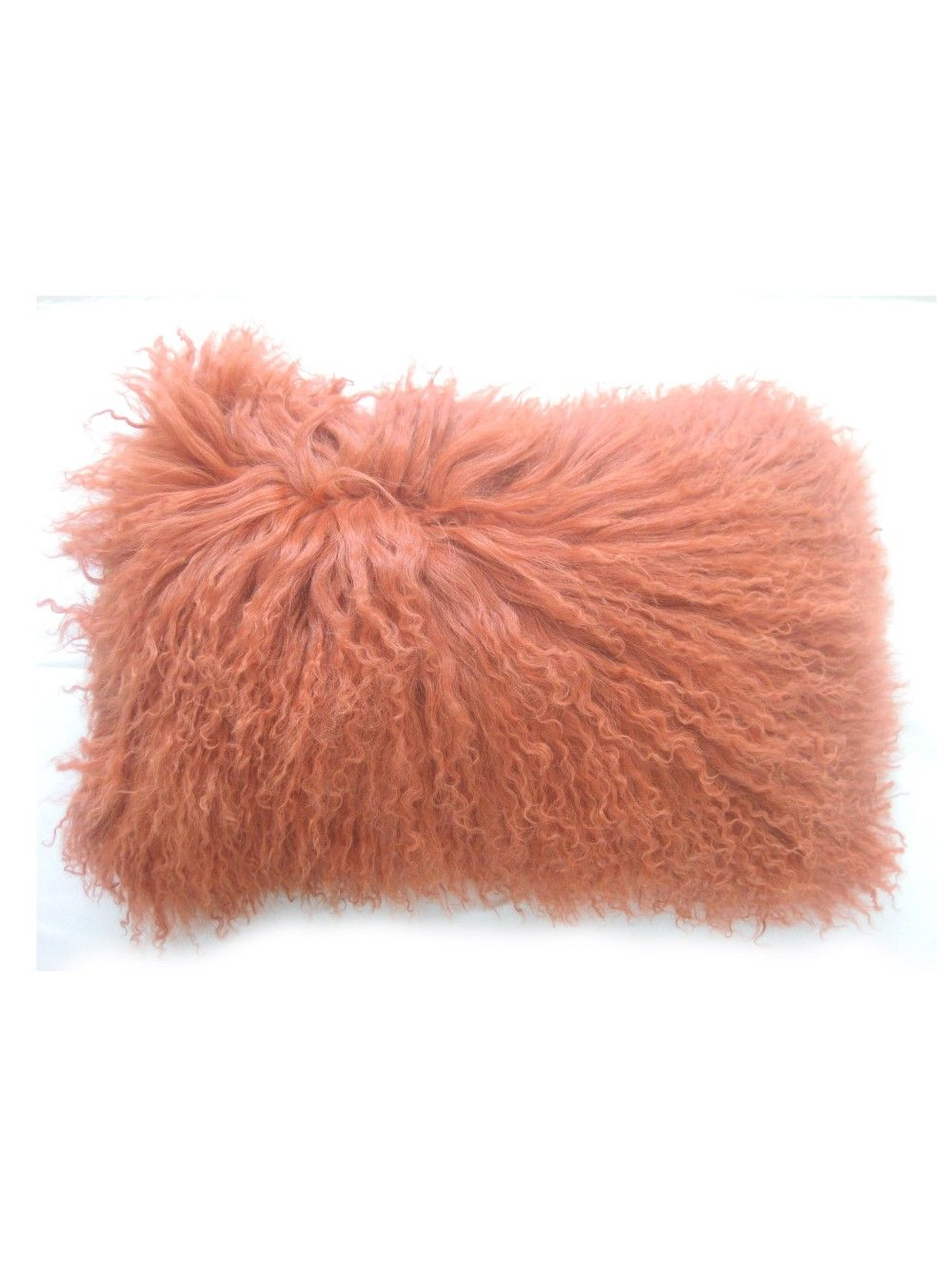 Albany Fur Pillow, Coral