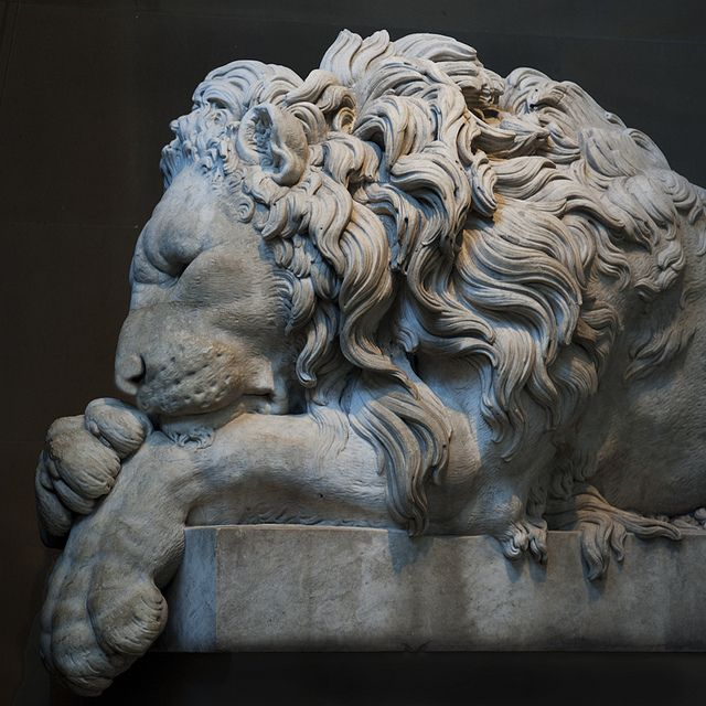 Sleeping Lion Sculpture Art Sculpture Lion Sculpture