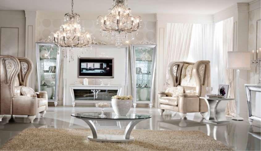 Soggiorno in stile classico - Soggiorno classico ed elegante ...