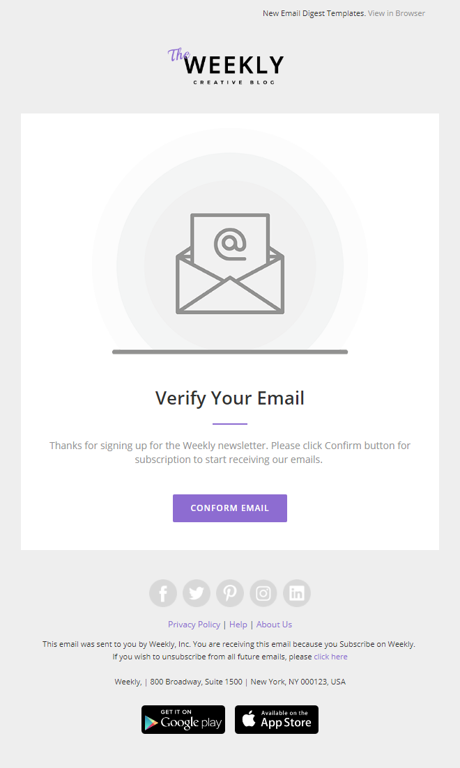 In google docs, click template gallery. Weekly Responsive Email Newsletter Template With Online Email Builder Subscrib Emai Email Newsletter Template Email Newsletter Design Email Template Design