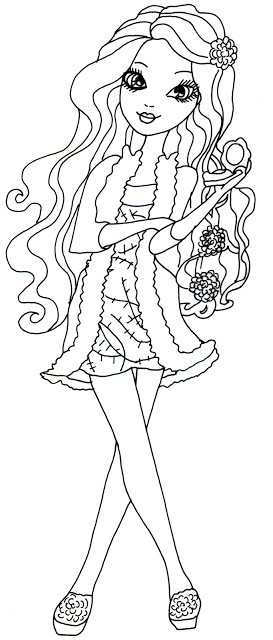Free Printable Briar Beauty Getting Fairest Ever After High Coloring Page