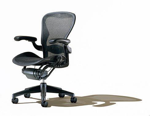 Aeron Work Chair Herman Miller Inc Silver Certified Interior Design Office Seating