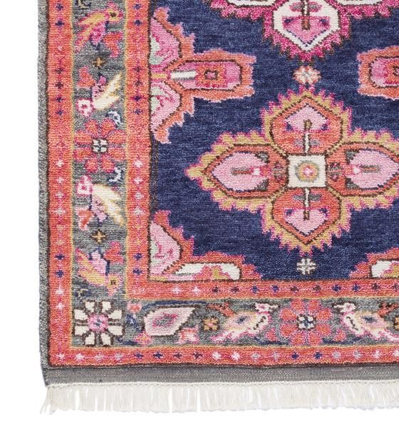 Rugs A Stunning Navy And Coral Antique Inspired Persian Rug Created In All Our Favorite Hues It Is As Luxurious Underfoot As I Pink Rug Persian Rug Navy Rug