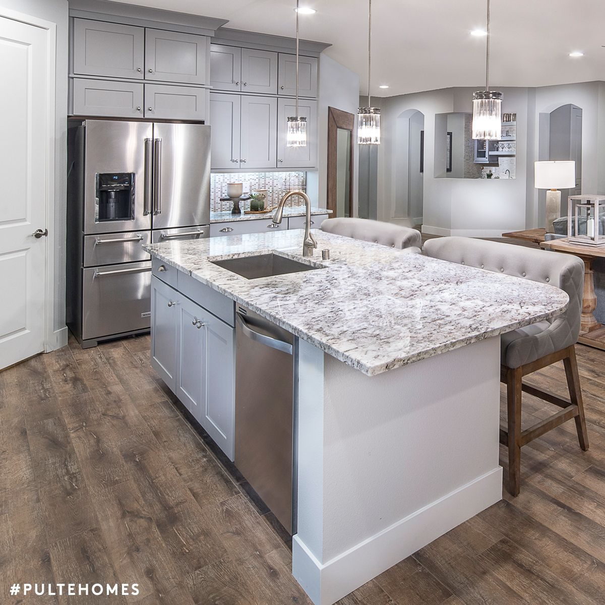 Merveilleux This Inviting Kitchen Is The Epitome Of Refined Elegance In Chic, Soothing  Grays. Pulte Homes