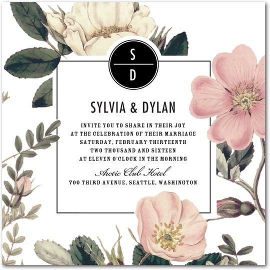 Montreal Wedding Invitations: Might Be Nice With Hawaiian Flowers Instead