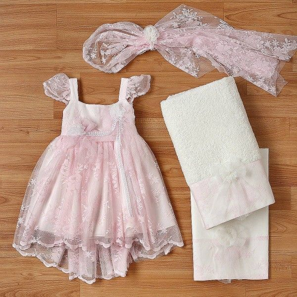 b0ffd2b8ec30 New Life Βαπτιστικό Φόρεμα Δαντέλα 2242-4 - Οικονομικά Φορεματάκια ...