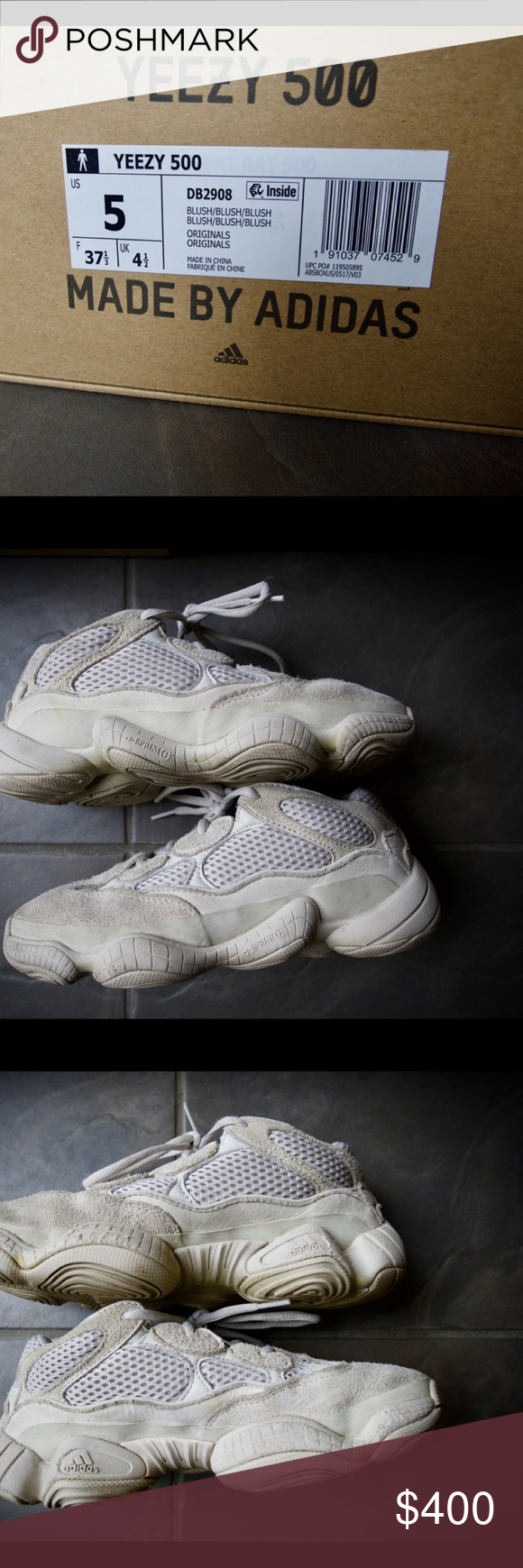 d7b1264a2 My son s gently used Yeezy 500 Initially released in February 2018 as a limited  pre-