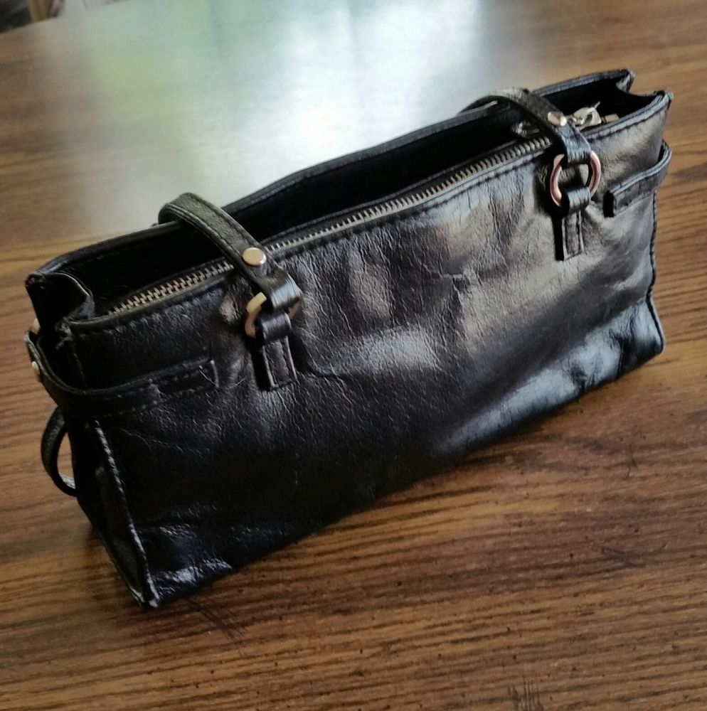 Wilsons Leather Purse Maxima Small Black Leather Bag