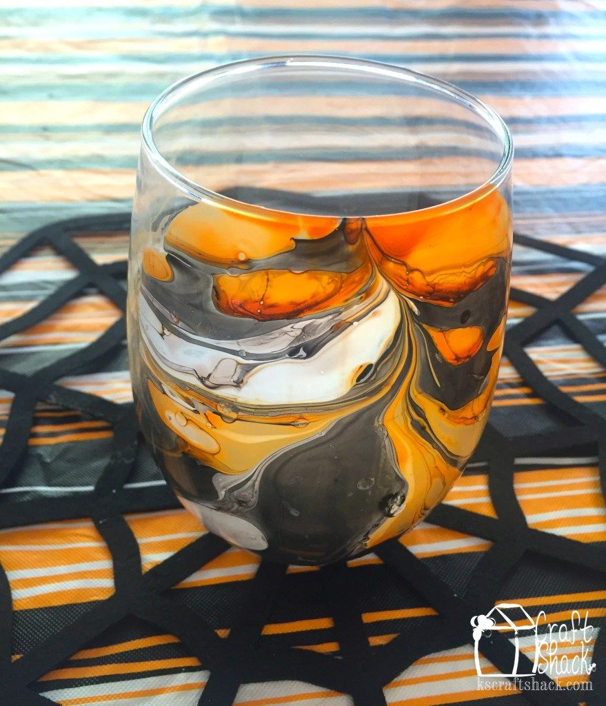 Marbled candle votive with Nail Polish – Craft Shack Chronicles