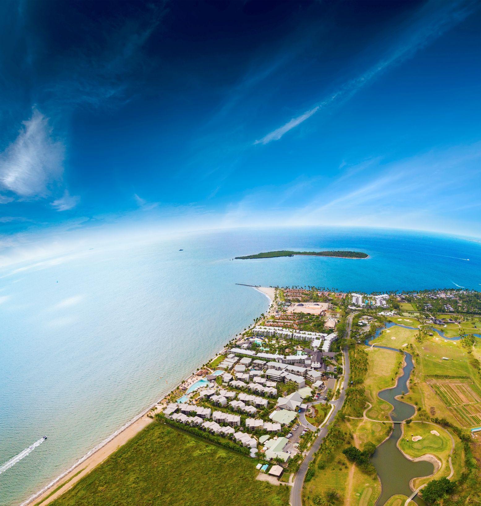 Fiji Beaches: Wyndham Resort Denarau Island, Fiji From Above. What A