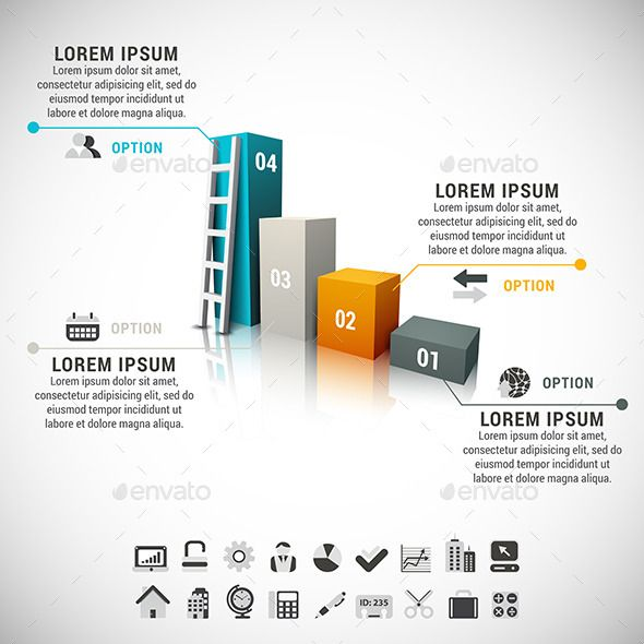 Business Infographic — Vector EPS #illustration #chart • Available here → https://graphicriver.net/item/business-infographic/8870730?ref=pxcr