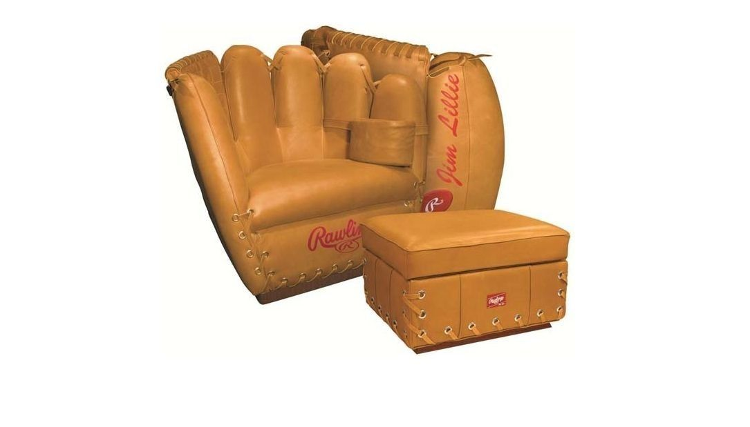 Amazon.com: Rawlings® Baseball Heart Of The Hide Glove Leather Chair And  Ottoman