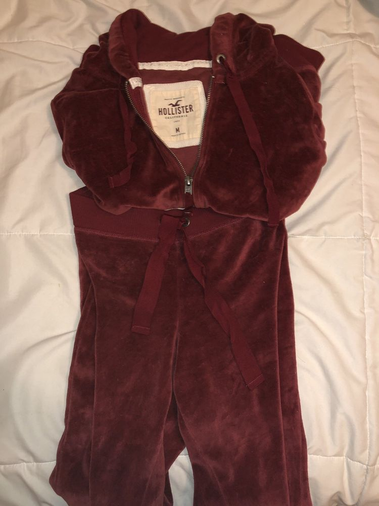 61a061b4ac861 velour tracksuit Hollister womens Medium #fashion #clothing #shoes ...