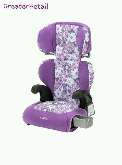 Booster Car Seat Belt Positioning Child Vehicle Safety Girls Purple ...
