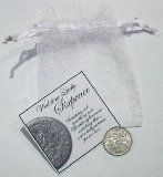Wedding SixPence - and a Lucky Sixpence in Her Shoe - in Gift Bag / http://www.realweddingday.com/wedding-sixpence-and-a-lucky-sixpence-in-her-shoe-in-gift-bag