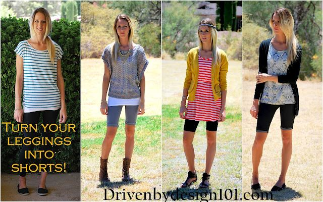 Turn Your Leggings Into Shorts ~ No Hemming is Needed!