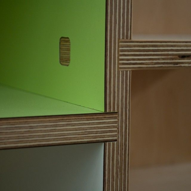 Neat Plywood Joints By Kerf. Like The Laminate And Plywood